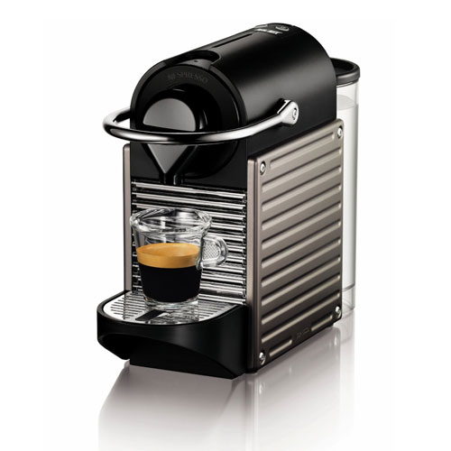 10. Nespresso Pixie Espresso Maker, Electric Titan